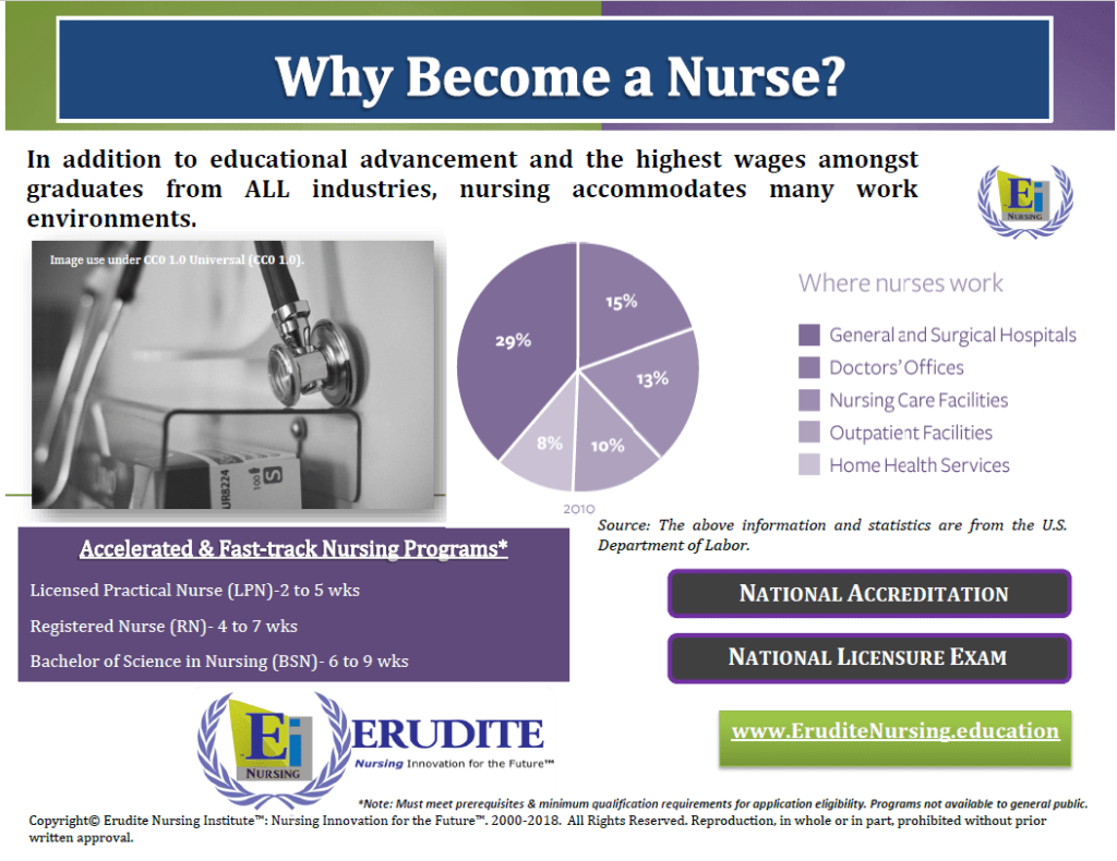 Erudite Nursing Institute: Why Become a Nurse? Pamphlet 1-2.