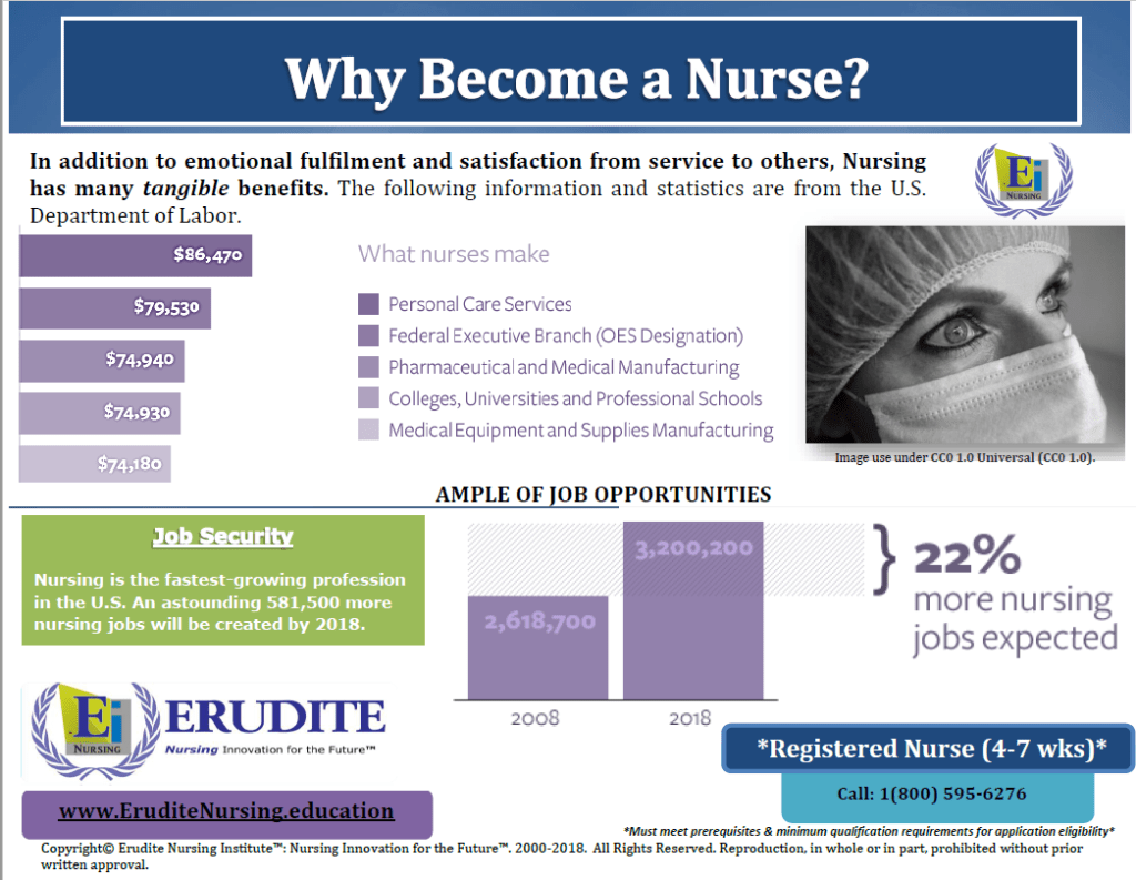 Erudite Nursing Institute: Why Become a Nurse? Pamphlet 1-1.