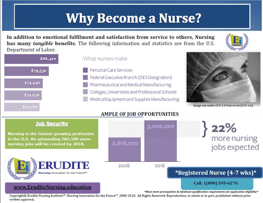 Erudite Nursing Institute: Why Become a Nurse? Pamphlet 1-1.