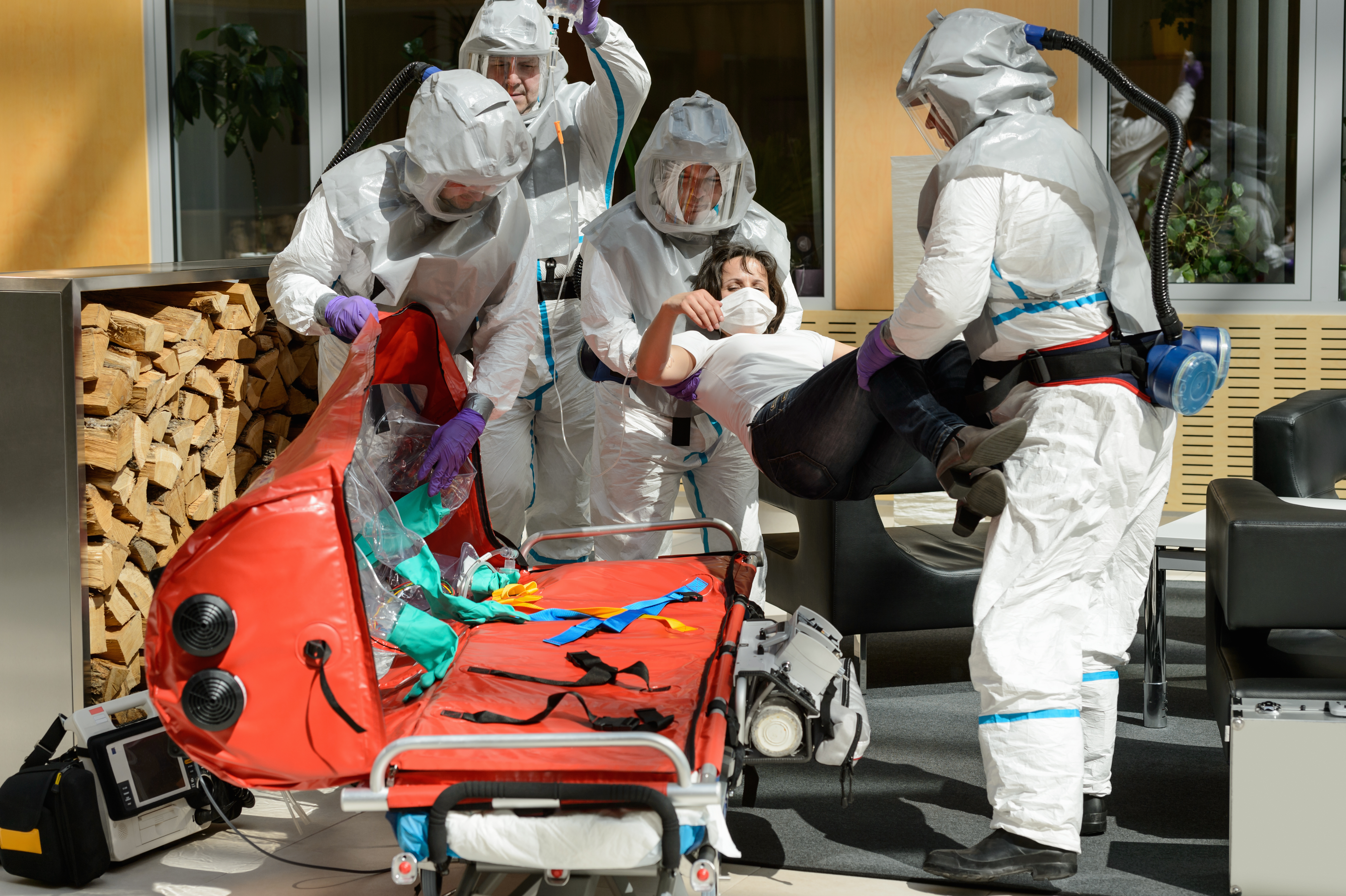 Protective Gears For Healthcare And Nursing Staff Engaged In Coronavirus Treatment